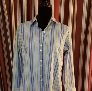Talbots Stripped Dress Shirt